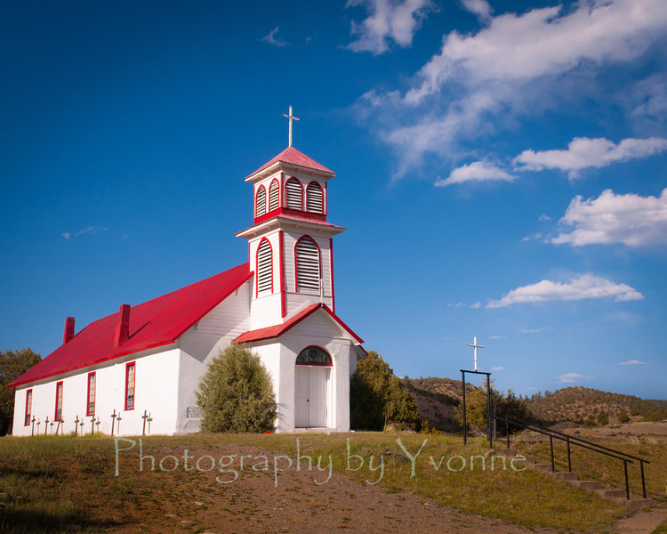 St. John the Baptist church in the abandoned railroad town of Gato, CO (also known as Pagosa Juction).