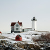Winter at Nubble Lighthouse, Cape Neddick, Maine. (One of my mother's favorite places!)