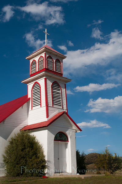 St. John the Baptist church in the abandoned railroad town of Gato, CO (also known as Pagosa Juction)