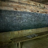 Little Greenbrier Schoolhouse blackboard