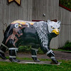 One of the many painted bears found around the town of Cherokee, NC.