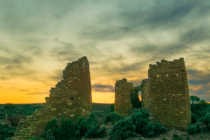 Twilight at Hovenweep Castle (2)