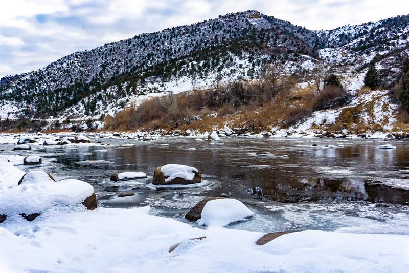 Animas River in winter coat