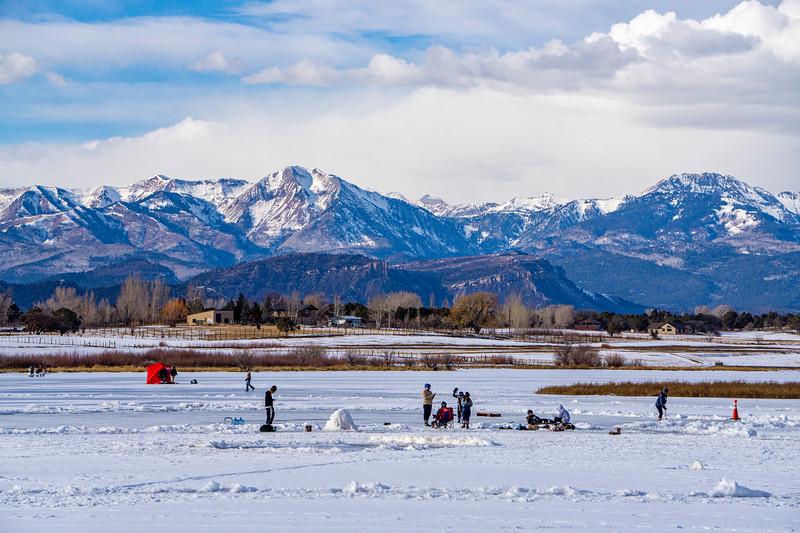 Winter fun on Pastorius Lake