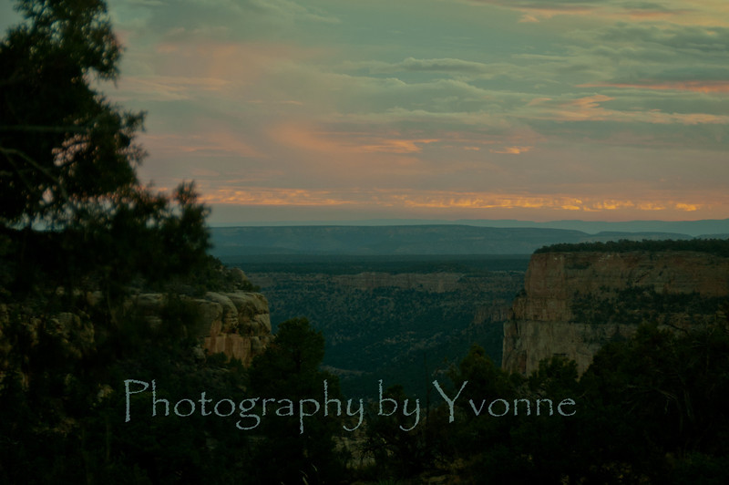 Looking south from Spruce Tree House trail, dusk 12/6/12