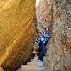 Climbing the stairs out of Cliff Palace
