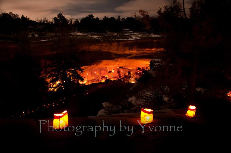 Luminaria night at Spruce House Tree Ruin. 12/8/11