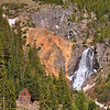 Cabin and waterfall near Silverton, CO