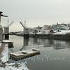 Winter scene at Perkin's Cove, Maine.