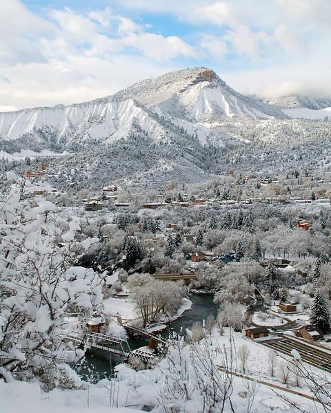 Durango Colorado winter overlook.