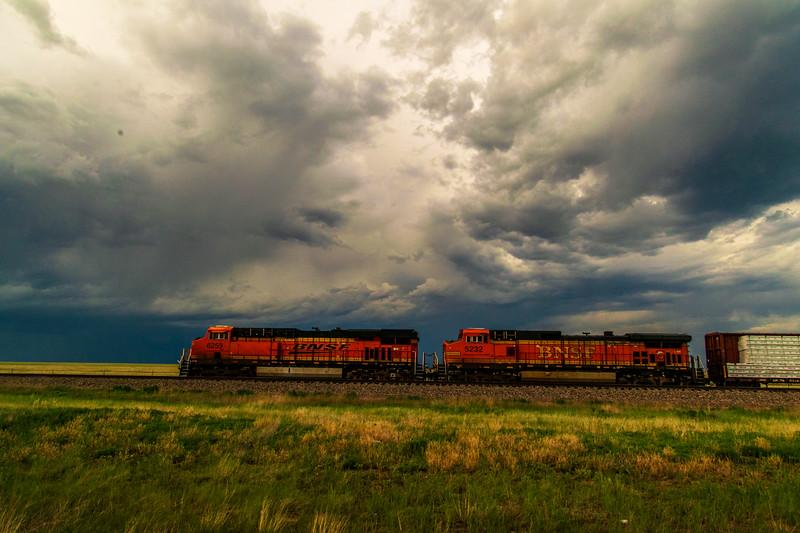 Stormy skies overhead