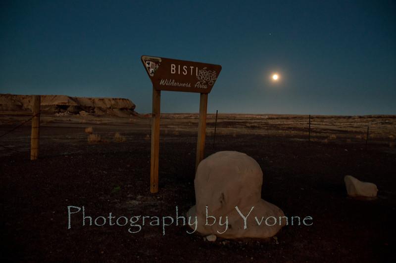 Full Moon at the Bisti