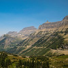 View of Going to the Sun road from Logan Pass, Glacier NP