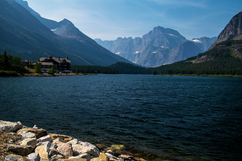 Chalet on Swiftcurrent Lake, Many Glaciers area