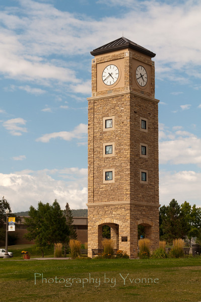 Fort Lewis College clock tower. Durango CO