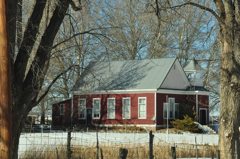 Old schoolhouse in hamlet of Beulah, CO