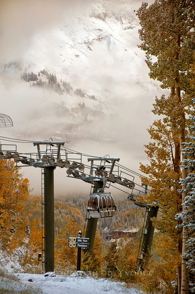 Telluride Colorado, early snow Oct. 4, 2013