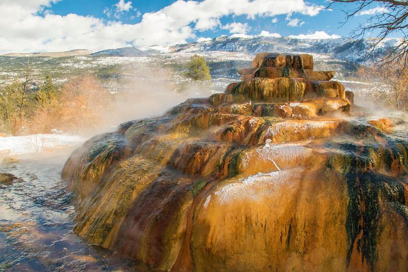 Pinkerton Hot Springs, winter