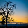 La Plata County road sunset scene.
