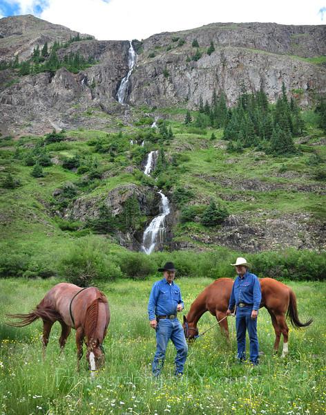 Cowboys. Cunningham Gulch near Silverton, CO