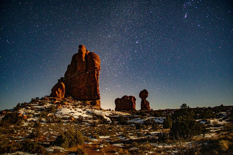 Starry Night with Snow