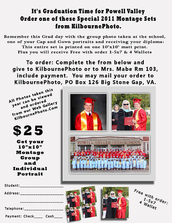This Special Custom Montage is only available for a limited time.  Call us or Email us for how you can get yours NOW!<br /> Free with order 1-5x7 and 4 wallets of student receiving diploma.