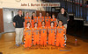 """If you purchase this picture, the words in Orange and Black will stay. The top says, """"John I Burton Black Raiders"""", and the bottom, says """"2011 Junior Varsity Girls""""., The name of KilbournePhoto WILL NOT be on the purchased picture."""