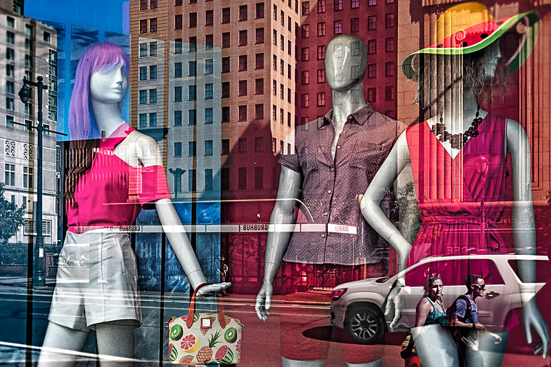 Mannequins, Street View, Red