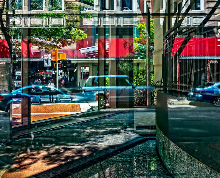 Arch Street through Double Glass