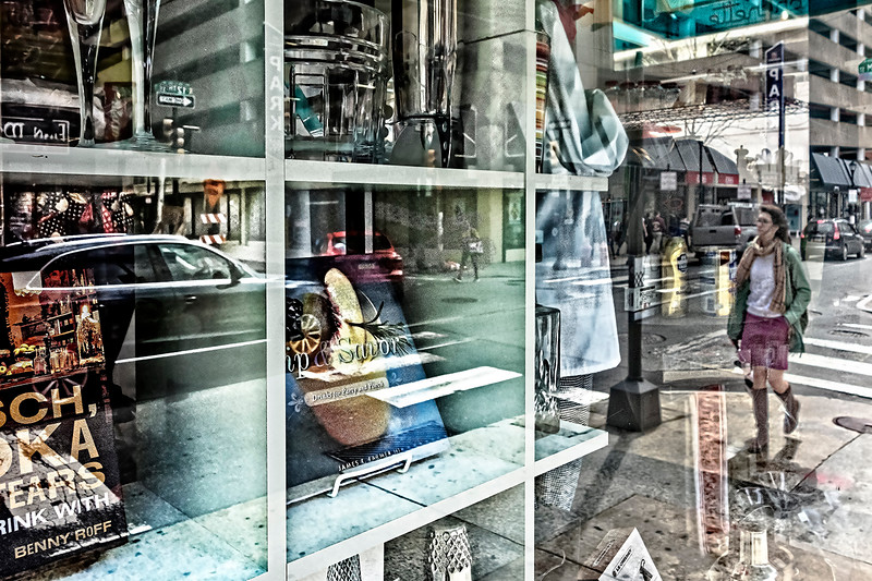 Store Window, Pedestrian, Street View
