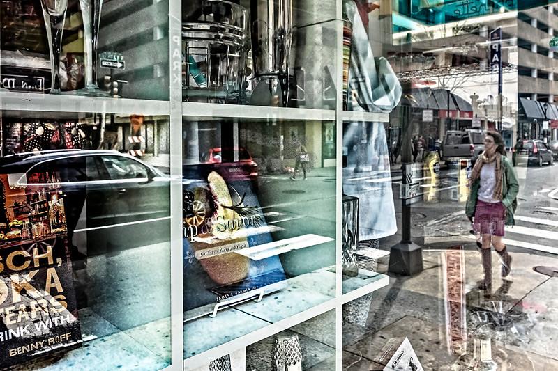 Store Window, Pedestrian, Street View