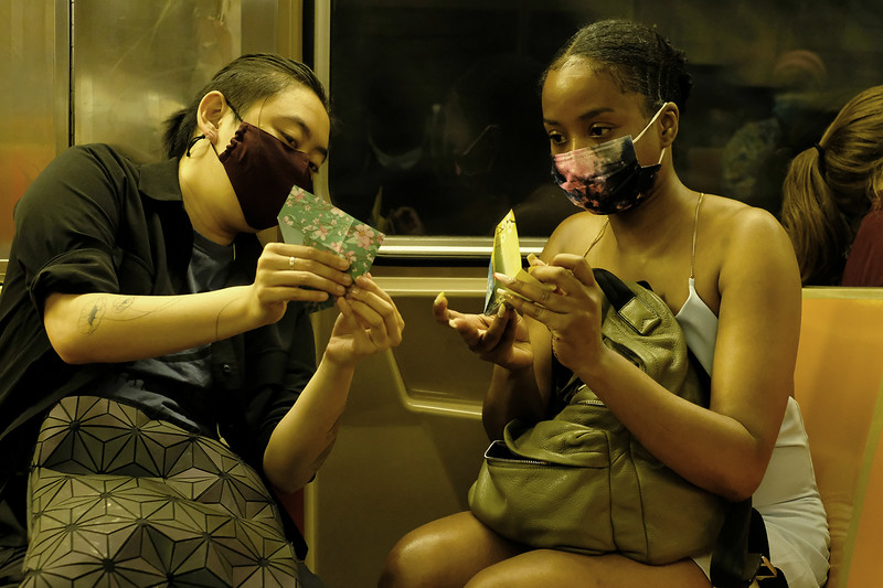 The Origami Lesson (Strangers on a Train)<br /> Brooklyn, NY  (2021)