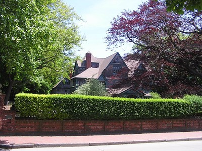 Newport is famous for Bellevue Road and the huge mansions that span the street for miles.