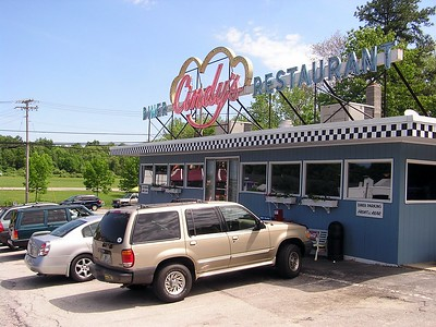 Breakfast would be at an original New England diner.