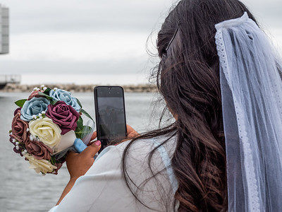 5.28.2019 Monday bride photographing groom and best man