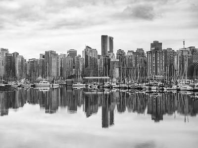 9.10.2019 Black & white kind of Vancouver morning