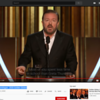 """Ricky Gervais' Monologue - 2020 Golden Globes<br /> <a href=""""https://www.youtube.com/watch?v=LCNdTLHZAeo"""">https://www.youtube.com/watch?v=LCNdTLHZAeo</a><br /> <br /> Ricky Gervais Responds to Criticism of His Golden Globes Speech After Backlash<br /> <a href=""""https://www.theepochtimes.com/ricky-gervais-responds-to-criticism-of-his-golden-globes-speech-after-backlash_3196130.html"""">https://www.theepochtimes.com/ricky-gervais-responds-to-criticism-of-his-golden-globes-speech-after-backlash_3196130.html</a><br /> """"..During his eight-minute opening monologue at the event, which took place on Jan. 4, an unapologetic Gervais took aim at celebrities in attendance over their alleged friendship with convicted sex offender, Jeffrey Epstein.<br /> <br /> """"I know he's your friend but I don't care. You had to make your own way here in your own plane, didn't you?"""" he said.<br /> <br /> The writer and director opened his speech by referencing actress Felicity Huffman and her imprisonment for a college admissions scandal involving her daughter.<br /> <br /> """"I also came here in a limo and the license plate was made by Felicity Huffman,"""" he joked.<br /> <br /> The former star of the BBC's """"The Office"""" criticized Hollywood figures for advocating certain causes but turning a blind eye to the companies that pay them, singling out Apple while its CEO Tim Cook sat in the audience.<br /> <br /> """"Apple roared into the TV game with 'The Morning Show,' a superb drama about the importance of dignity and doing the right thing, made by a company that runs sweatshops in China,"""" he said.<br /> <br /> """"Well, you say you're woke but the companies you work for in China—unbelievable. Apple, Amazon, Disney. If ISIS started a streaming service you'd call your agent, wouldn't you?""""<br /> <br /> Elsewhere in his speech, Gervais jokingly accused the Hollywood Foreign Press Association, which decides who win the coveted Golden Globes awards, of being """"very, very racist.""""<br /> <br /> Concluding his speech,"""