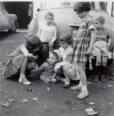 Michael and Englewood kids - 1960