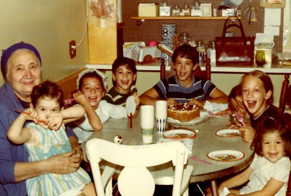 Katia and grandchildren 1970