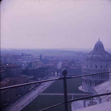 Pisa Tower view, 1971