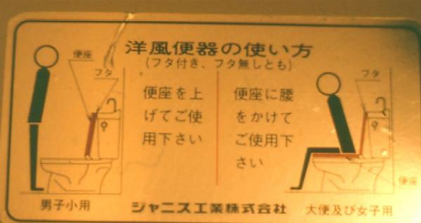 Tokyo toilet instruct, 1970