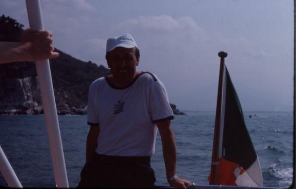 Sergio on board, 1980