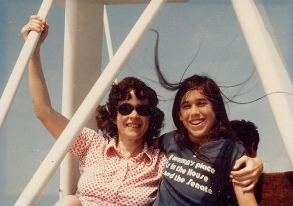 Jess, Kat on boat,1981