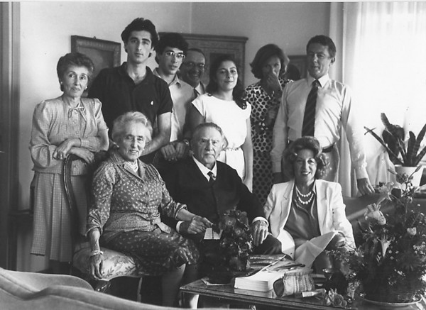 Gran Tio Marco's 90'th Birthday party in Rome, 1983.<br /> (Phil is 3'rd from left, back row)
