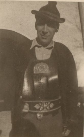 Angelo as Tyrolean, 1920s