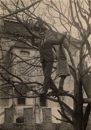 Angelo in tree 1920s
