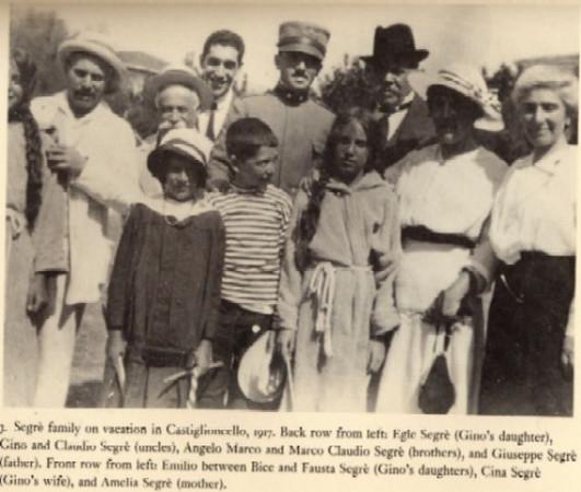 Segre family, 1917, from Emilio's book