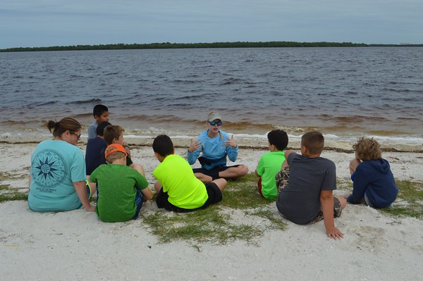 Seining with Mrs. Akin's Class October 2016
