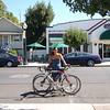 Barbara's special valet bike parking.