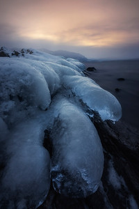 More ice formations in Blind Bay, BC, due to -30 degree weather.
